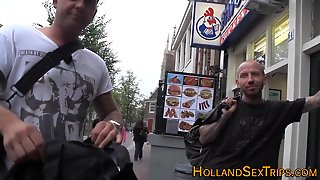 Bald Man With Tattoos Fucks Dutch Hooker And Facializes Her