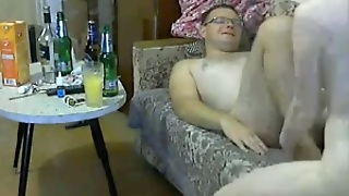 Drunk Russian Couple Fucking