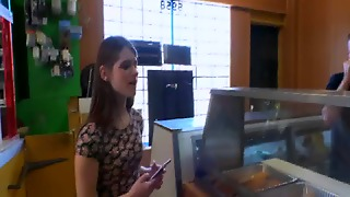 Alice March And Friend Blowjob For Cash