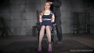 Cute Dress And Stockings On A Girl Submitting To Bondage