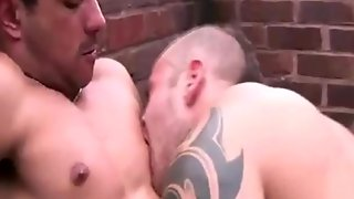 Gay Stud Takes Cock In His Ass Whille In The Yard