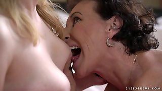 Yummy Girl Tia Malkova Is Licking Old And Ugly Twat Of Nasty Old Lady