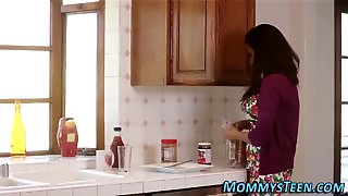 Busty Stepmom Rubs Teen