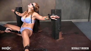 Bound Girl In Her Bra And Panties Gets Mouth Fucked