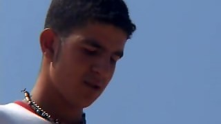 Tunisian Arab Twink Masturbates On The Beach