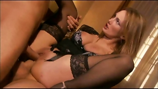 Double Penetration, Big Ass, Girl, Big Tits, Facial, Blowjob, Ass, Nice, Horny, Pantyhose, Dp