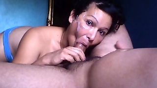 Shemale Blowjob Cum Face