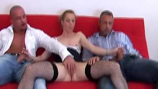 Blonde Does A Scene With 2 Guys 2/4