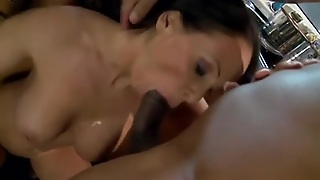 Mature Pussy Fucks In Kitchen