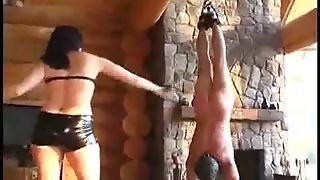 Severe Whipping Of A Fella By His Female-Dominant