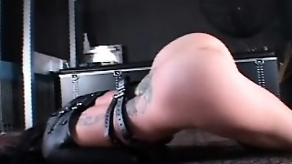 Busty Girl In Chains Gets Her Legs Wide Spread