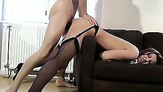 Mature Stockings Hoe Swallows