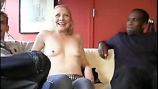 Interracial Blonde