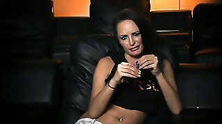 Brunette Gives A Blow Job