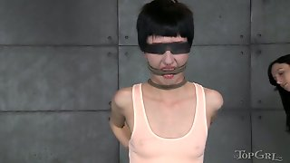 Skinny Mistress Punished Pussy Of Anorexic Chick Cadence Cross