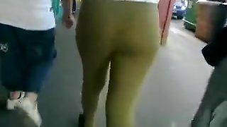 Teen In Green Tight Pants