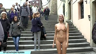 Public Nudity, Exhibitionism, Outdoor, Naked On Streets, Blonde, Flashing, Nude In Public, Public