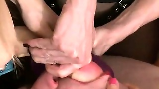 Femdom Party For Submissive Guy