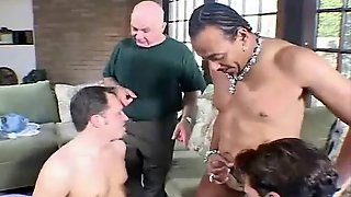 Anal Foursome For Big Tit Swinger Milf