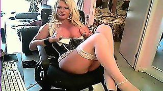 Tgirl In Stockings Solo For Cam