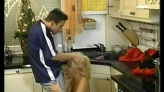 Elegant Blonde - Kitchen Anal
