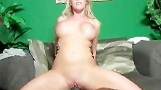 Interracial Creampie In Blonde Barbi