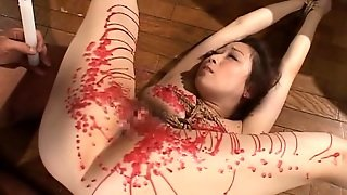 Slut Gets Hot Wax Poured All Over Her