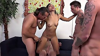 Group Fucked Black Cutie