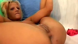 Skinny Blond Teen Fist Fucked In Her Destroyed Cunt