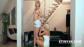 Lesbian Seduction With Two Blondes