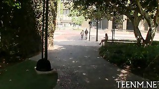 Teen Gets Horny In Public For A Blowjob