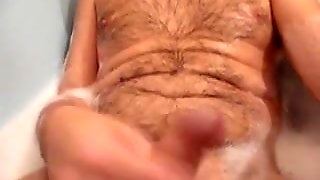 Wank In Bath And Cumshot