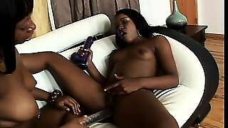 China Doll And Mocha Deelite Enjoy An Exciting Lesbian Experience On The Couch