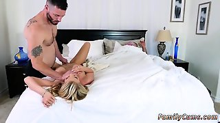 Father, Blowjob, Hd Blonde, Milf Lick, Blonde Lick, Milf Gets Caught, Blonde Caught