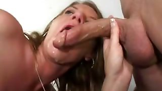 Busty Milf Gets Double Teamed