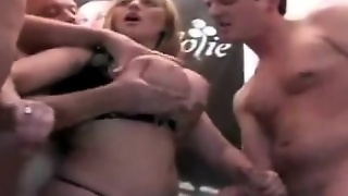 Busty Amateur Homemade Blowjob Orgy