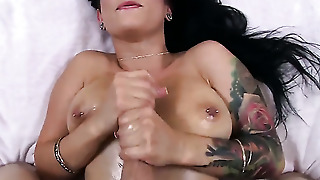 Brunette Does A Tit Fuck
