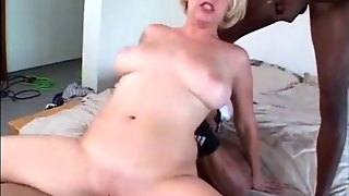 Chubby Babe With Natural Tits Getting Dp Hardcore In An Interracial Mmf Sex