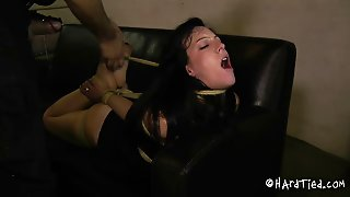Crucified Bondage Slave Mouth Getting Widened In Bdsm