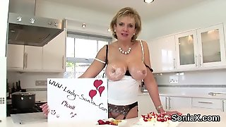 Unfaithful British Mature Lady Sonia Pops Out Her Huge Jugs
