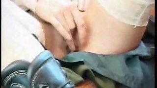 Redhead Takes Black Cock In A Parking Lot