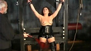 Hot Young Bdsm Brunette In Corset Loves Kinky Play In The Sex Dungeon