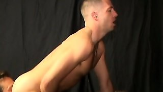 He Gets His Ass Pounded, Then Licks Ass And Drills A Tight Butt