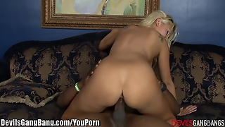 Big-Tits Blonde Creampied