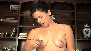 Sexy Small Tits With Big Areola On A Stripping Solo Girl