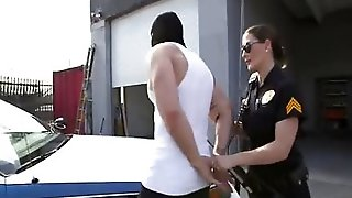 Cop Giving Great Blowjob And Sex
