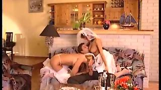 Two Brides Fucked By A Dude