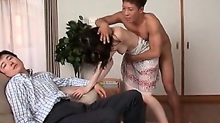Japanese Milf Cunt Finger Fucked While She Deep Throats Cock