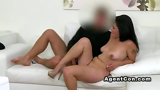 Nervous Amateur Banged In Casting