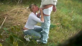 Horny German Milf Wife Of My Friend Gives Me Head On Picnic